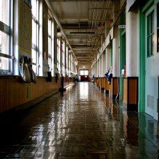 Empty corridor of a school
